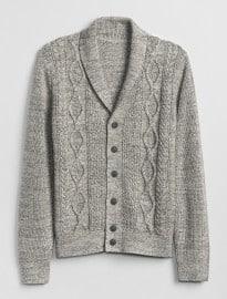 Gap Cable-knit Shawl Cardigan Sweater
