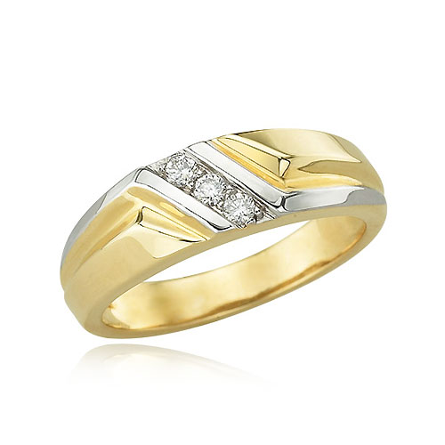 Two Tone Diamond Wedding Bands Fashion Belief