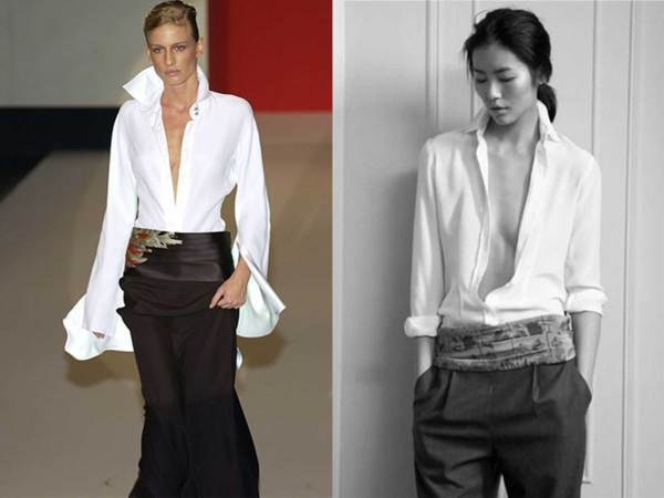 camicia-bianca-cintura-foulard