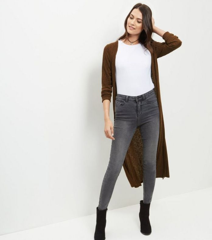 olive-green-fine-knit-ribbed-longline-cardigan