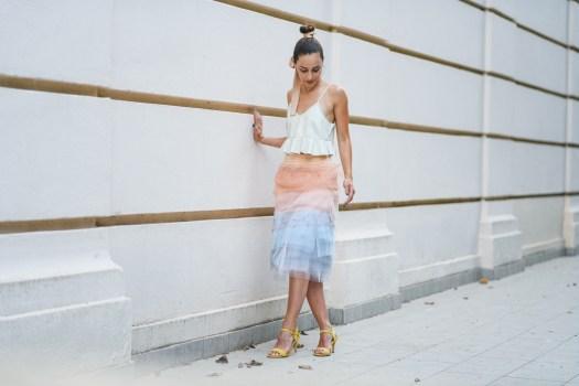 tulle pastel skirt