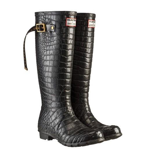 Jimmy Choo - Crocodile print Hunter boots