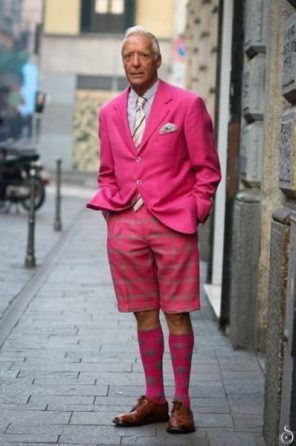 rosa pink street style