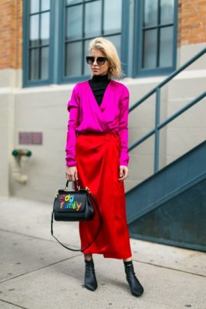street style rosa pink