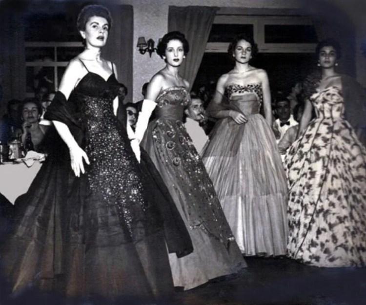 Modelos do Miss Bangu nos anos 50