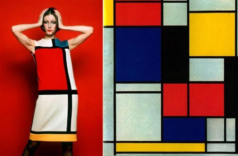 Modelo Yves Saint Laurent dos anos 60