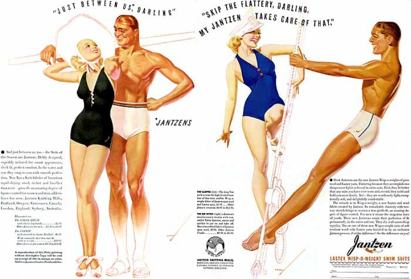 Ilustraçõs em estilo pin-up de George Petty, entre 1937 e 1938.