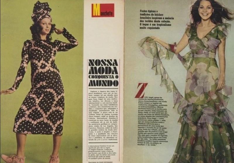 Matéria sobre Zuzu Angel na Revista Manchete, em março de 1971.
