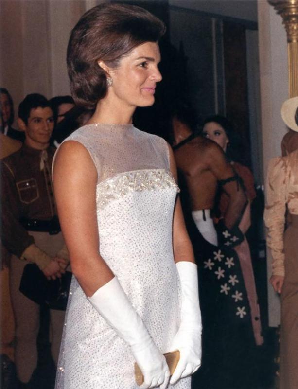 Jacqueline Kennedy na Casa Branca, 1962.