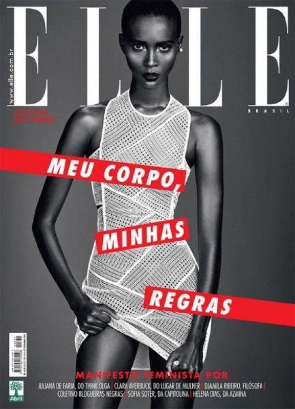 Capa da Revista Elle Brasil.