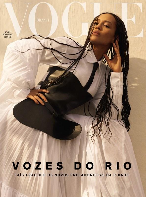 Capa da Vogue Brasil com Taís Araújo.