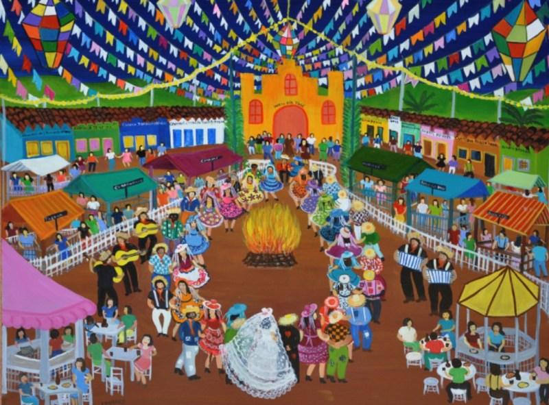 Festa Junina em Art Naif de Lourdes de Deus. História da Festa Junina.
