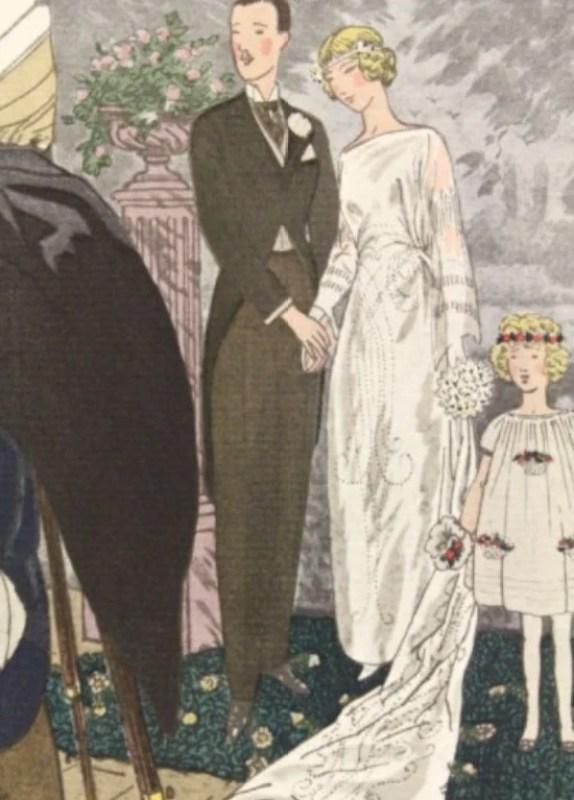 A la ville voisine. Robe de mariée de Jeanne Lanvin - pl.9, La Gazette du Bon ton, 1921 n°2.