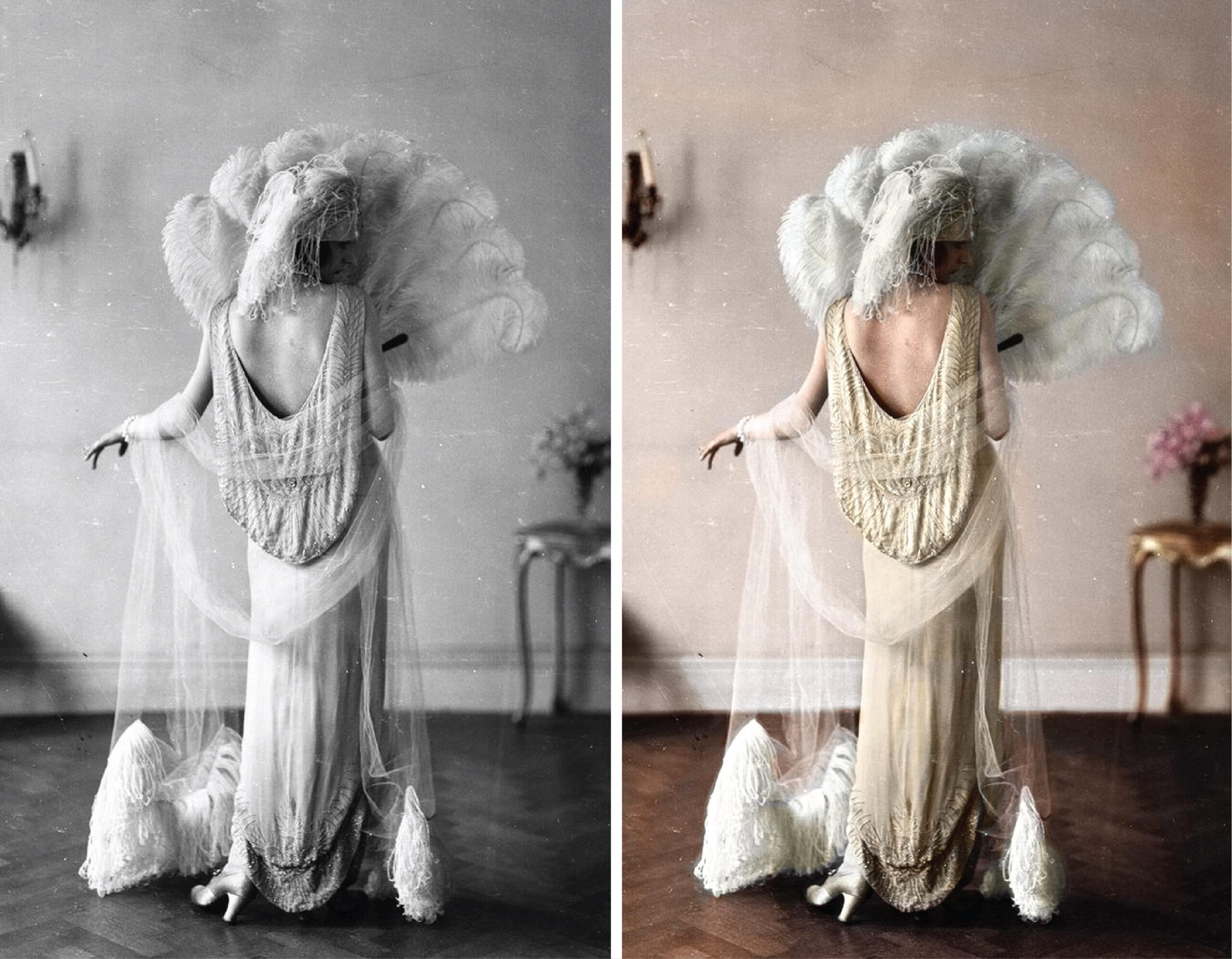 Modelo Irene Castle em um vestido de Madeleine Vionnet, c. 1922.