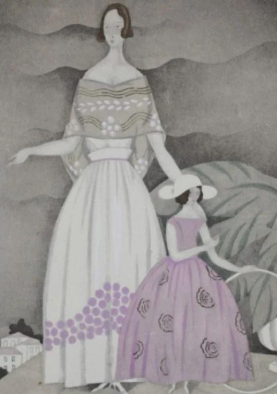 La Rose du jardin. Robes, de Jeanne Lanvin - pl.55, La Gazette du Bon ton, 1922 n°7.
