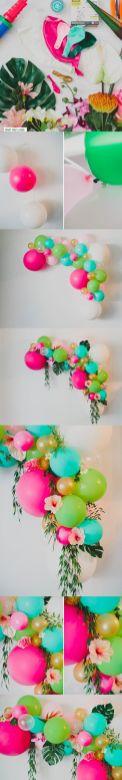 passo passo pra item decoração festa tropical - lual