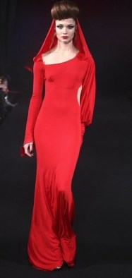 vermelho vestido longo