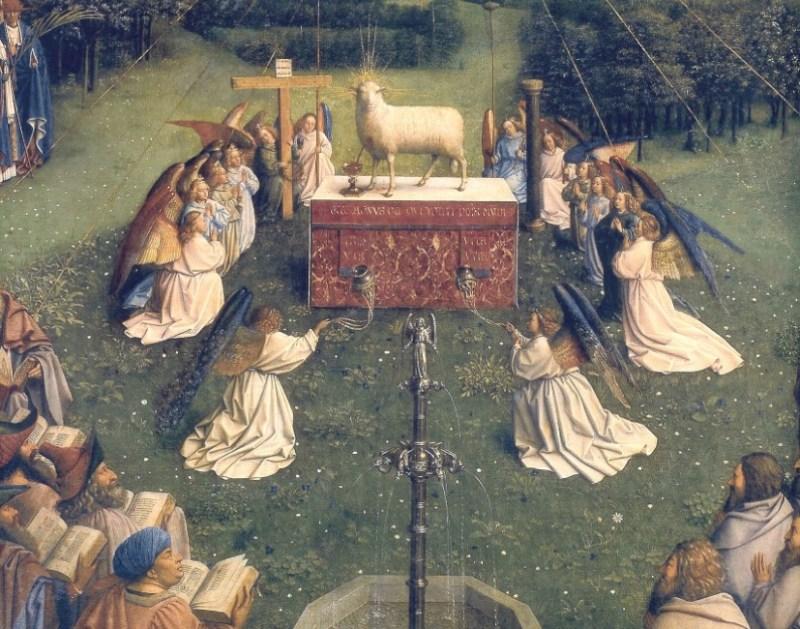 The Ghent Altarpiece de Jan van Eyck, 1432.