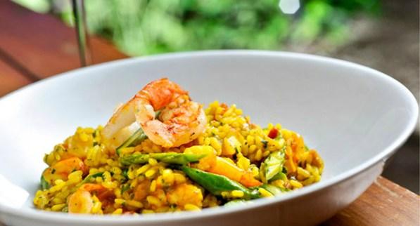 arrozes e camarões