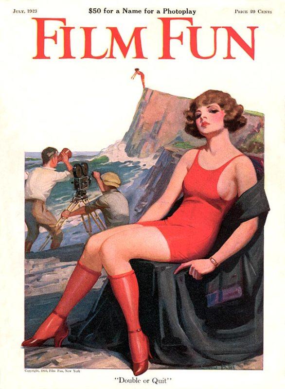 Ilustração em um capa de uma publicação em 1923, por Enoch Bolles.