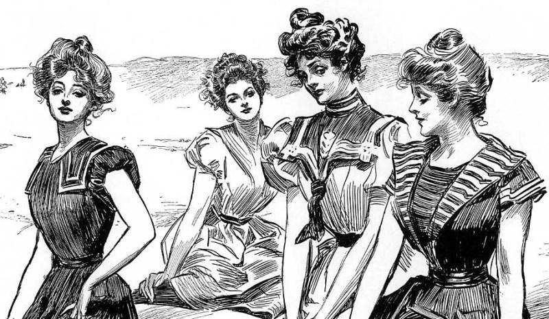 Gibson Girls por Charles Dana Gibson, c. 1900.