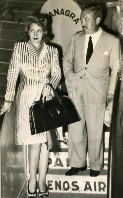 Eva-Peron-Evita-striped-suit