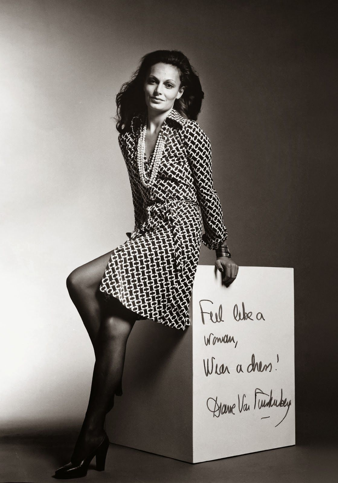 Foto Diane von Furstenberg  de vestido envelope