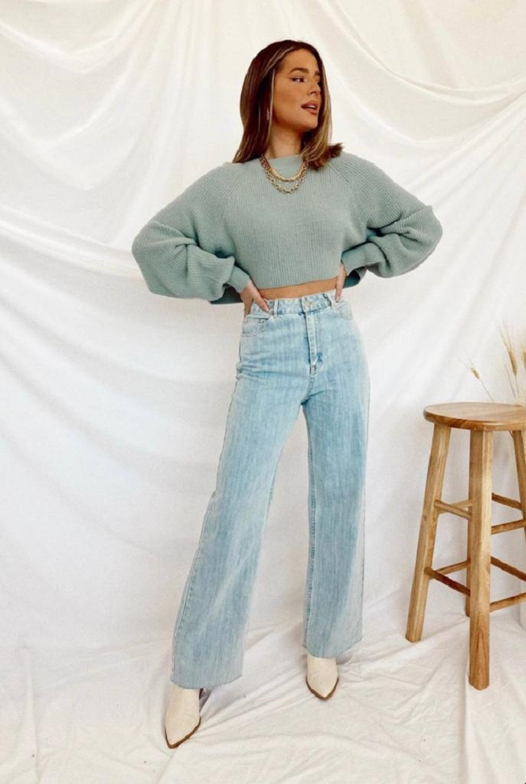 Foto de mulher usando Wide Legs