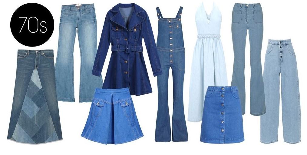 Modelos Jeans da década de 70.