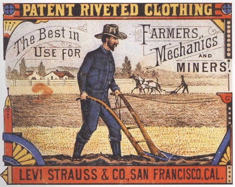 Por volta dos anos 1880 o Jeans original da Levis era uma completa novidade.