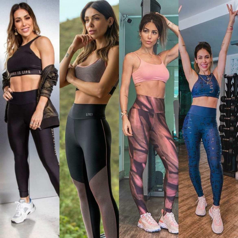 Montagem Bella Falconi com look fitness