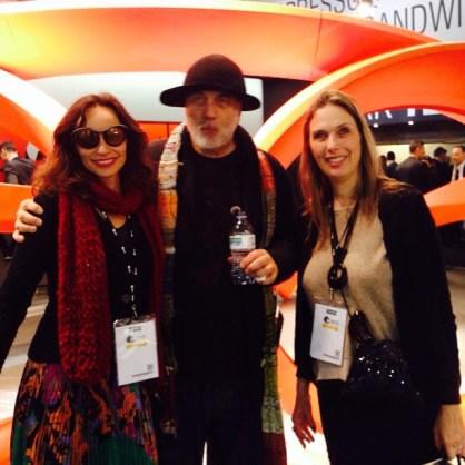 Paola Rosseto e o arquiteto Ron Arad