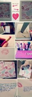 Cartão de beijos para o dia dos namorados como fazer