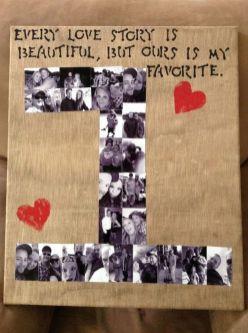 ideia de cartão de um ano de namoro
