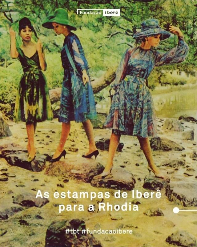 Publicidade da pareceria da Fundação Iberê e da Rhodia.
