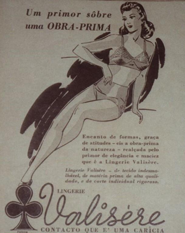 Publicidade da Valisere na Revista O Cruzeiro, de novembro de 1941.