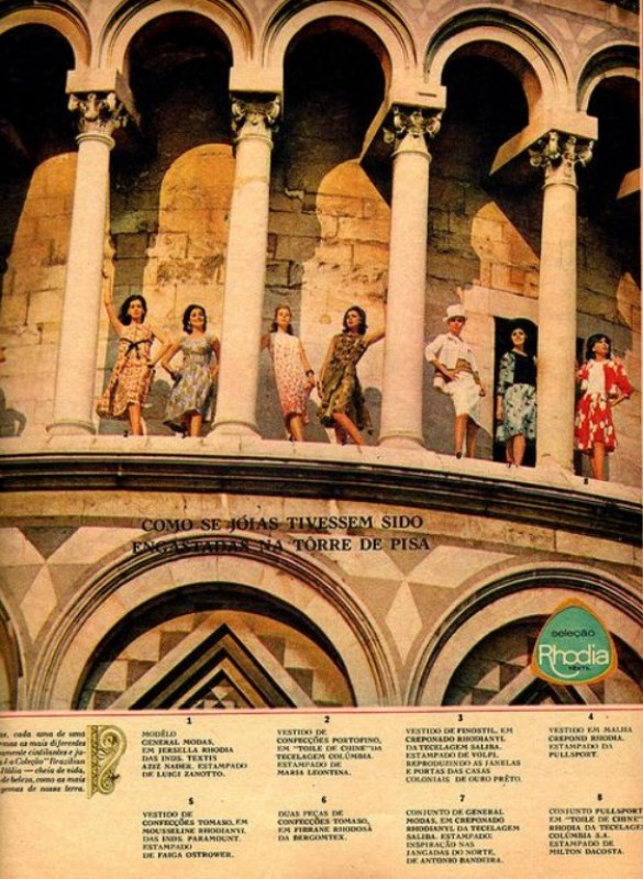 Publicidade da Rhodia na Itália.