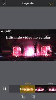 editando vídeo com Perfect video 1