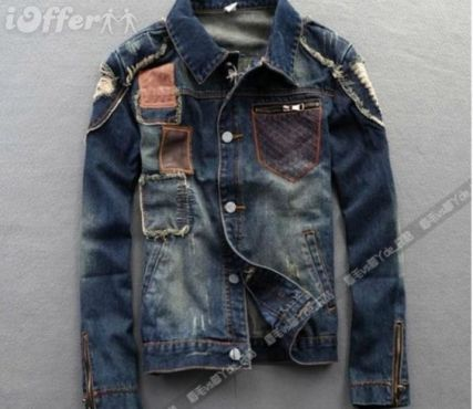 Jaquetas jeans masculinas estilosas