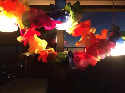 Colores de flores na decoração