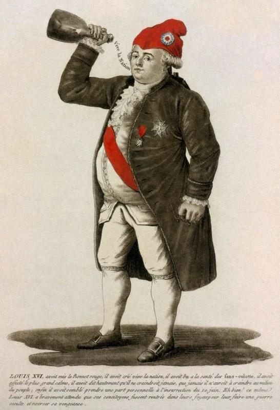 Luís XVI da França com um chapéu barrete vermelho