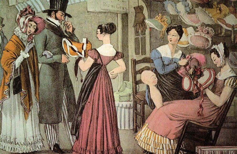 Ilustração de mulheres com vários chapéus