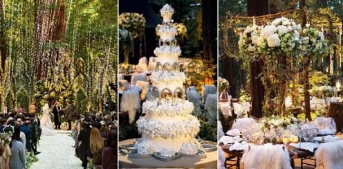 Inspiração de decoração para casamento Game of Thrones got_wedding_montage