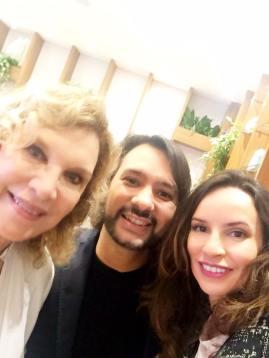 Janine, Igor Rodrigues e Denise Pitta