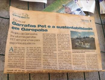 Projeto Prancha Ecológica- Eco Garopaba - Reciclagem - Pranchas de gafarra PET 55