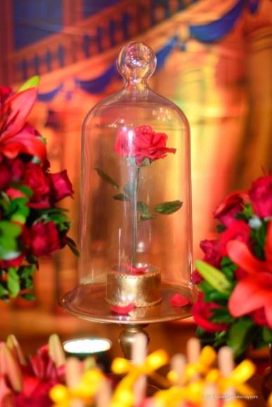 rosa do fil a bela e a fera - festa temática