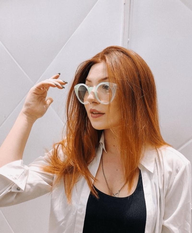 Óculos gatinho cor jade