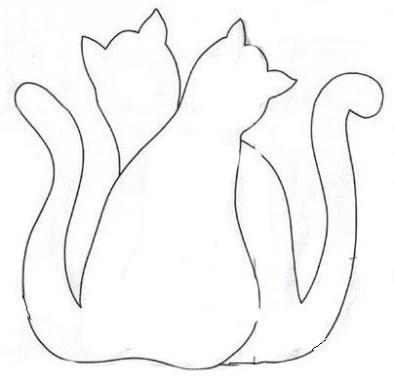 molde para gatinhos de natal 6