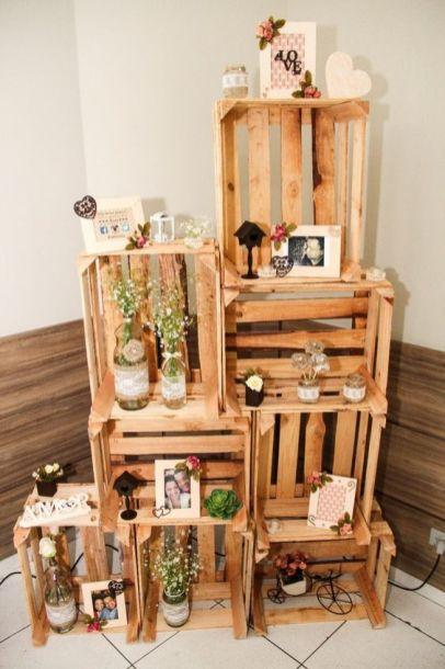 decoração de casamento faça vc mesmo usando caixotes