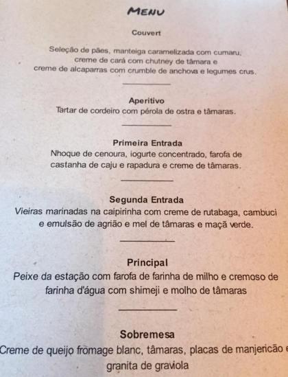 O menu realizado com tâmaras 2
